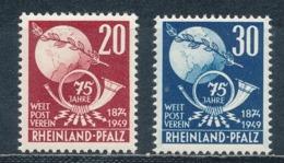 Französische Zone Rheinland-Pfalz 51/52 ** Mi. 20,- - Französische Zone