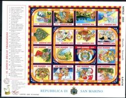 "SAN MARINO / SAINT MARIN  2003  MNH  -  "" NOEL / CHRISTMAS - JEU DE L'OIE "" -  1 MSHEET - Saint-Marin"
