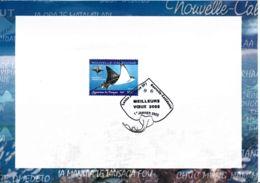 NOUVELLE-CALEDONIE - 2005 - Souvenir - 1er Janvier - Raie Léopard - Cartas