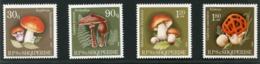 SALE  Albania 1990 Mi 2431-2434 Mushrooms MNH - Pilze