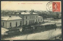 Drôme - Romans - La Gare Et La Vessette Sous La Neige - Cliché Morel N° 261 - Voir 2 Scans Larges - Bahnhöfe Mit Zügen