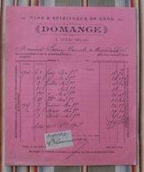 Rare 55 ORNES (village Detruit) DOMANGE VINS & SPIRITUEUX Timbre Fiscal - France