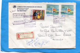 MARCOPHILIE-Lettre-REC--PORTUGAL -cad  AVION1982-LUBRAPEIX -3- StampsN°1539 Voiliers-championnat Du Monde - Marcophilie