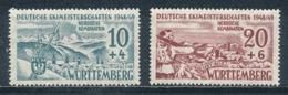 Französische Zone Württemberg 38/39 ** Mi. 20,- - Zona Francese