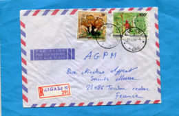 MARCOPHILIE-Lettre-RWANDA- -cad RICALI 1985 -2- Stamps Champignon+bananeraie - Rwanda