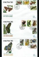 Surinam Nº 909/20 (3 Sobres Primer Día) - Surinam
