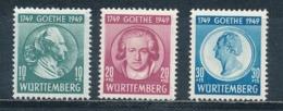 Französische Zone Württemberg 44/46 ** Mi. 35,- - Französische Zone