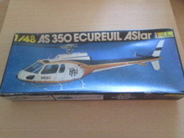 """Maquette Plastique HELLER """"boite Noire"""" Annés 70/80 AS 350 ECUREUIL ASTAR 1/48e Complète Non Commencée - Airplanes"""