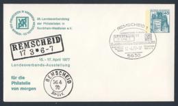 Deutschland Germany 1977 Brief Cover - 28. Landesverbandtag Nordrhein-Westfalen - Ausstellung / Exhibition - Treinen
