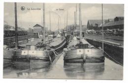 La Louvière - Le Canal Avec Péniches - NELS - Circulé - 2 Scans - La Louvière