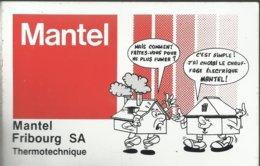 2 Autocollants - Mantel Fribourg  SA - Thermotechnique - Autocollants