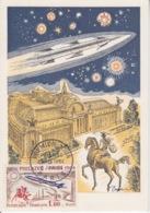 CP Maximum N° 1422 (Philatec Paris 64) Obl Paris Le 5 Juin 64 (Messager, Grand Palais, Fusée...) - Cartas Máxima