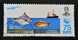RESSOURCES DE LA PECHE 1983 - OBLITERE - YT 301 - MI 283 - Brunei (1984-...)