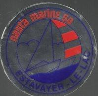 Autocollant - Nasta Marine SA - Estavayer-le-Lac -Suisse Canton De Fribourg - Autocollants