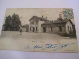 C.P.A.- Baccarat (54) - La Gare - 1904 - SUP (CS 85) - Baccarat