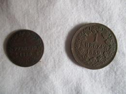 German States: 1 Pfennig Nassau + 1 Kreuzer Bade 1859 - [ 1] …-1871: Altdeutschland