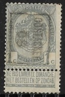 Oostacker 1905  Nr. 687B - Precancels