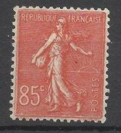 France N°204 Semeuse Lignée 85c  Rouge   Neuf * *  TB  - MNH VF TB Centré  Solde à  Moins De15 %   ! ! ! - France