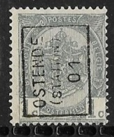 Oostende Station 1901  Nr. 365Azz - Precancels