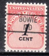 USA Precancel Vorausentwertung Preo, Locals Maryland, Bowie 829 - Vereinigte Staaten