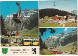 Schwägalp / Santis: LANDROVER 109, POST-AUTOBUS, AUTOBUS/COACH, SCHWEBEBAHN/TÉLÉPHÉRIQUE -  (Schweiz/Suisse) - Toerisme