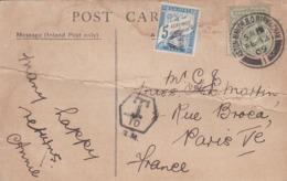 3 Cartes Postales Taxées ,celle De Bateaux ,pli IMPORTANT CASSANT HORIZONTAL (( Lot 511 )) - Marcophilie (Lettres)