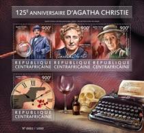 CENTRAL AFRICA 2015 - A. Christie, Clock - YT CV=22 €, 3956-9 - Uhrmacherei