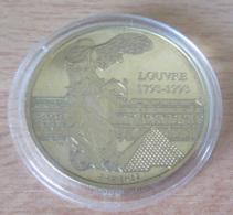 France - Médaille Europa / 200 Ans Du Musée Du Louvre En Bronze Vénitien - Avec Certificat - Professionnels / De Société