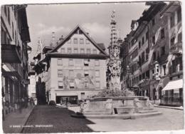 Luzern: FIAT 508 BALILLA , OLDTIMER VOITURE - Weinmarkt, 'Volksmagazin H.Weber' -  (Schweiz/Suisse) - 1953 - Toerisme