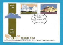Malta 1983  Mi.Nr. 680 / 681 , EUROPA CEPT - Große Werke Des Menschlichen Geistes - Ganzsache - Gestempelt / Used / (o) - 1983