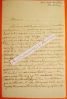 L.A.S 1836 Alexandre ROULLET De La BOUILLERIE - LA FLECHE Sarthe - Poiloup Maury - Lettre Autographe - Crosmières - Autographes