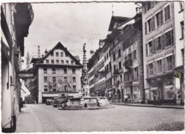 Luzern: DODGE SEDAN '46, OLDTIMER VOITURE - Weinmarkt, 'Volksmagazin Weber', 'Kodak Filme' -  (Schweiz/Suisse) - Toerisme