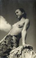 Malay Malaysia, SARAWAK BORNEO, Natural Beauty Dayak Girl (1951) Real Photo - Malaysia
