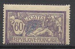 France N°144 Merson 60c  Piquage Très Décalé Dallay N° 143g  Neuf * *  TB  - MNH VF Soldé  à  Moins De 15 %   ! ! ! - Curiosities: 1900-20 Mint/hinged