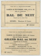 4 Cartons De Bal 1938 Et 1939 à La Ferté-sous-Jouarre . Eldorado . Théâtre Municipal . Union Sportive Fertoise . - Tickets D'entrée