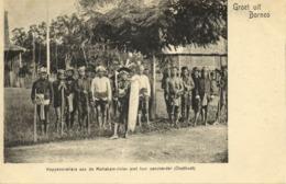 Indonesia, BORNEO, Dayak Headhunters Mahakam River, Chief Shield (1899) Postcard - Indonesië