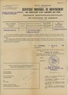 Guerre 1939-45 . Certificat Individuel De Rapatriement De Réfugié Par Chemin De Fer . Grenoble - Condé-sur-Escaut 1941 - Documents