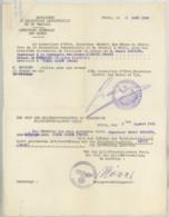 Guerre De 1939-45 . Demande De Rapatriement Ingénieur Des Mines De Charbon D'Anzin + Carte D'identité 1940 . - Documents