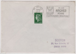 ARCHES 29 Juin 1973 Flamme Foire Gastronomie Régionale Sur Cheffer - Marcophilie (Lettres)