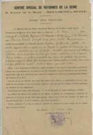 Certificat De Réforme Boulogne-sur-Seine 1920 + Carte D'invalidité Chemins De Fer 1942 . Blessé De Guerre . Eclat D'obus - Documents