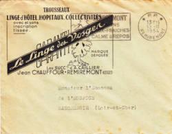 FRANCE - 1954 - Lettre Commerciale En Port Payé - PP - Lingedes Vosges - Francia