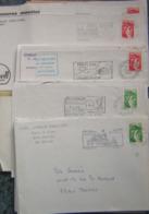 France Lot Vrac Sabine De Gandon 65 Plis Et 35 Devant D'env., 120 Grs TP Lavé, Plus Des Fragments Pour étude - - Timbres