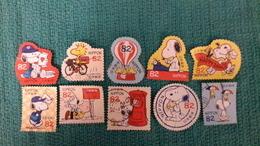 Japon 2017 8155 8164 Snoopy En Vélo  En Montgolfière  Photo Non Contractuelle - 1989-... Emperor Akihito (Heisei Era)