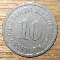 N°2 MONNAIE ALLEMANDE 10 PFENNIG 1898A - 10 Pfennig