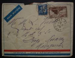 Afrique Par L' Aéropostale 1933 Lettre De Lyon Pour Madagascar (passages à Nairobi Et Daressalaam) - Poststempel (Briefe)