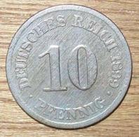 N°3 MONNAIE ALLEMANDE 10 PFENNIG 1899A - 10 Pfennig