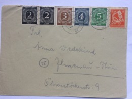 GERMANY 1946 Allied Cover Berlin Postmark Multi-stamped Including Thuringen - Zone AAS