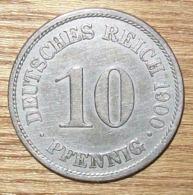 N°4 MONNAIE ALLEMANDE 10 PFENNIG 1900A - 10 Pfennig