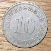 N°5 MONNAIE ALLEMANDE 10 PFENNIG 1901A - 10 Pfennig