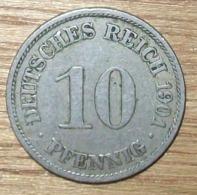 N°6 MONNAIE ALLEMANDE 10 PFENNIG 1901A - 10 Pfennig